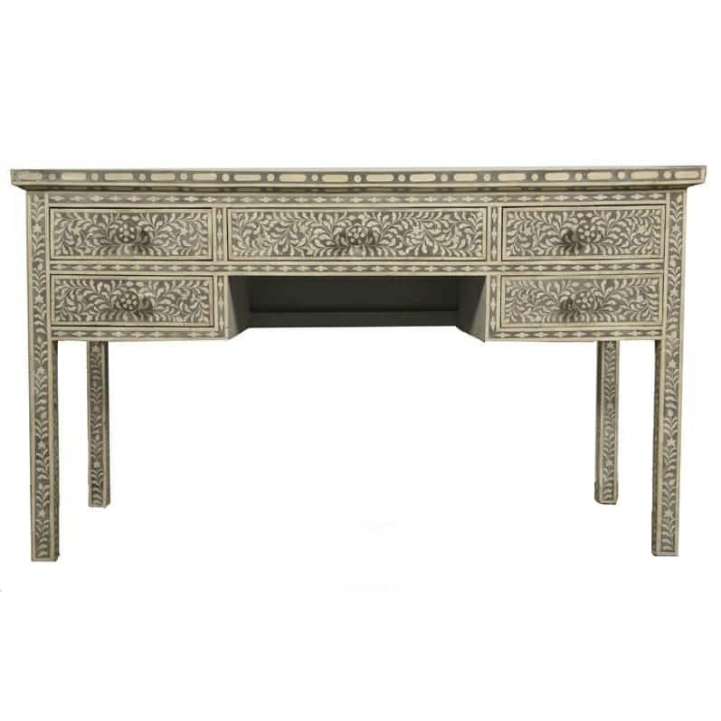 Grey Bone Inlay Desk 1