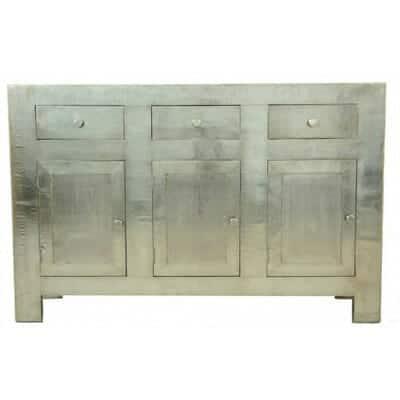 Sideboard Beige large white metal sideboard iris furnishing