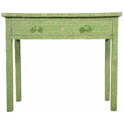 Light Green Bone Inlay Console Table 1