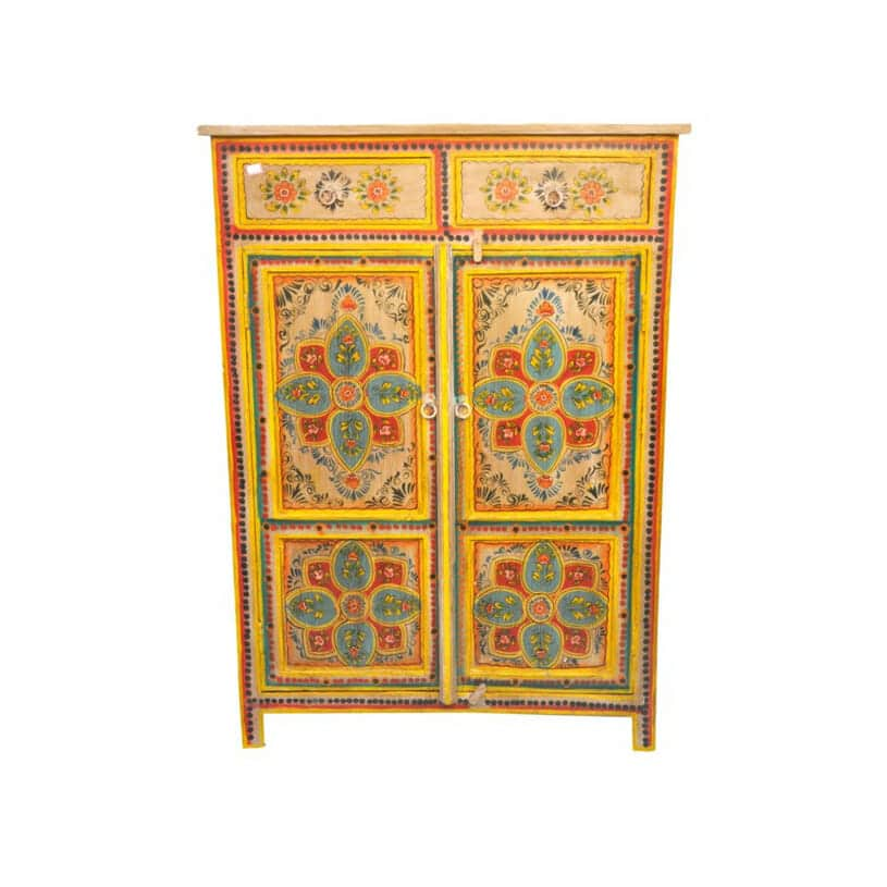 Orange Pankhuri Side Cabinet Iris Furnishing
