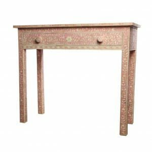Pink Bone Inlay Console Table 1