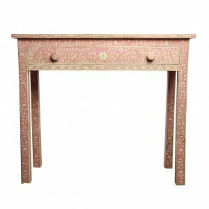 Pink Bone Inlay Console Table