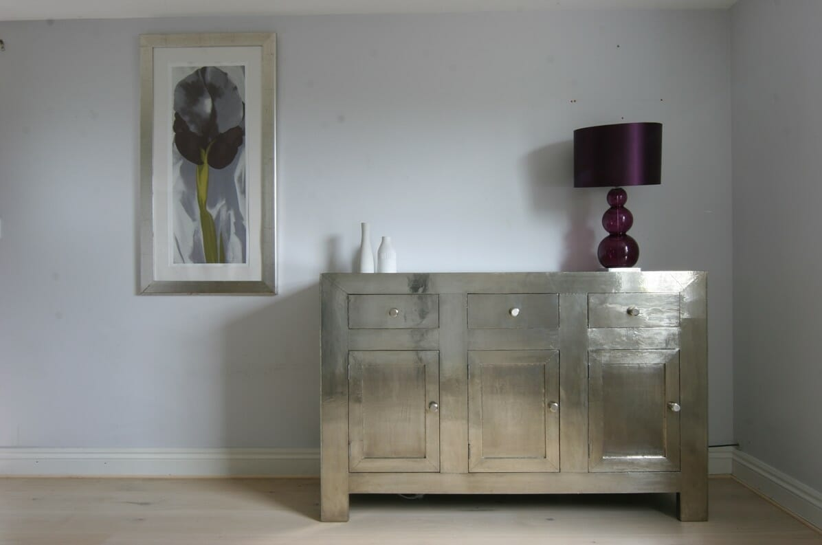 small white metal sideboard  iris furnishing - small white metal sideboard