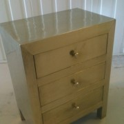 White Metal Bedside Chest (5)