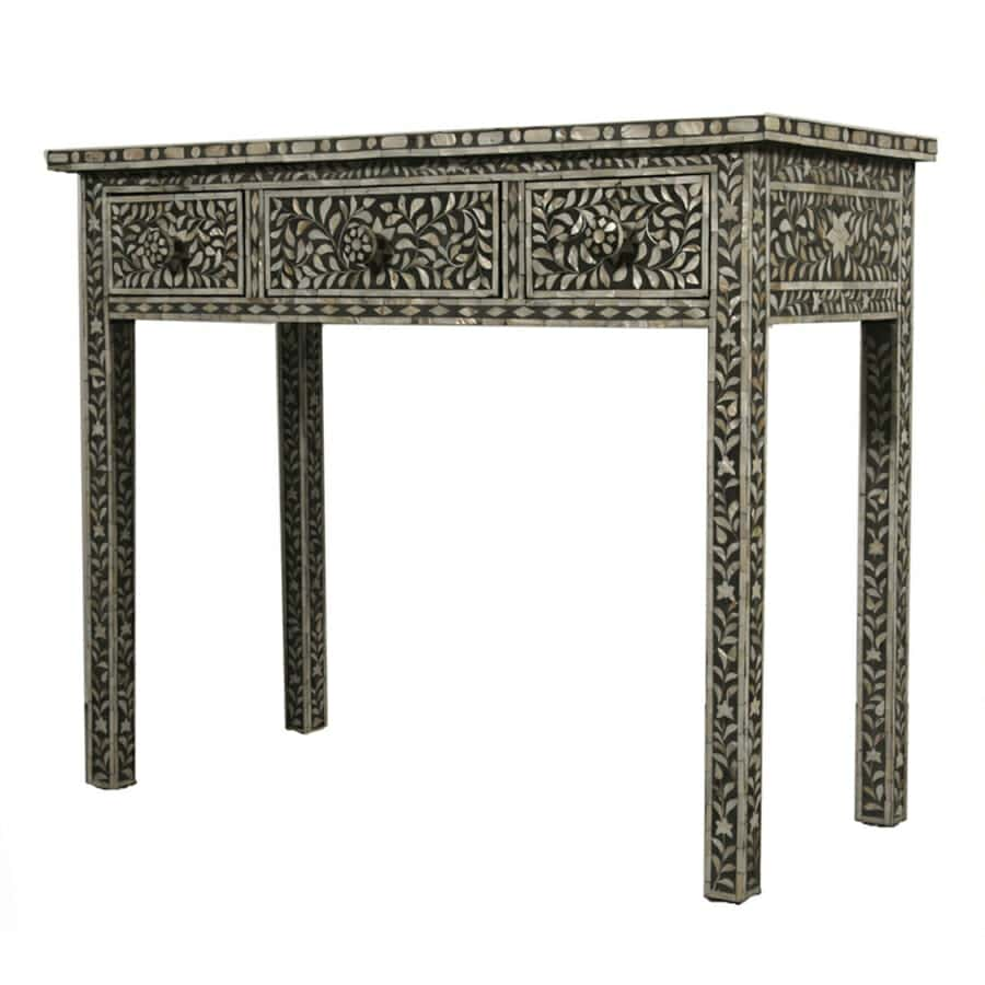 Black mother of pearl dressing table iris furnishing black mother of pearl dressing table 2 geotapseo Image collections