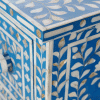 Blue 3-Drawer Mother of Pearl Chest of Drawers 3