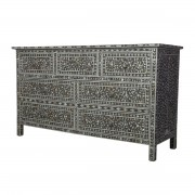 Charcole Mother of Pearl Chest of Drawers 1