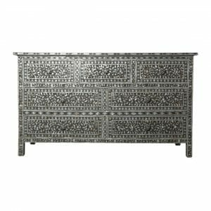 Charcole Mother of Pearl Chest of Drawers