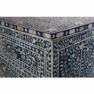 Dark Blue Mother of Pearl Chest of Drawers 1