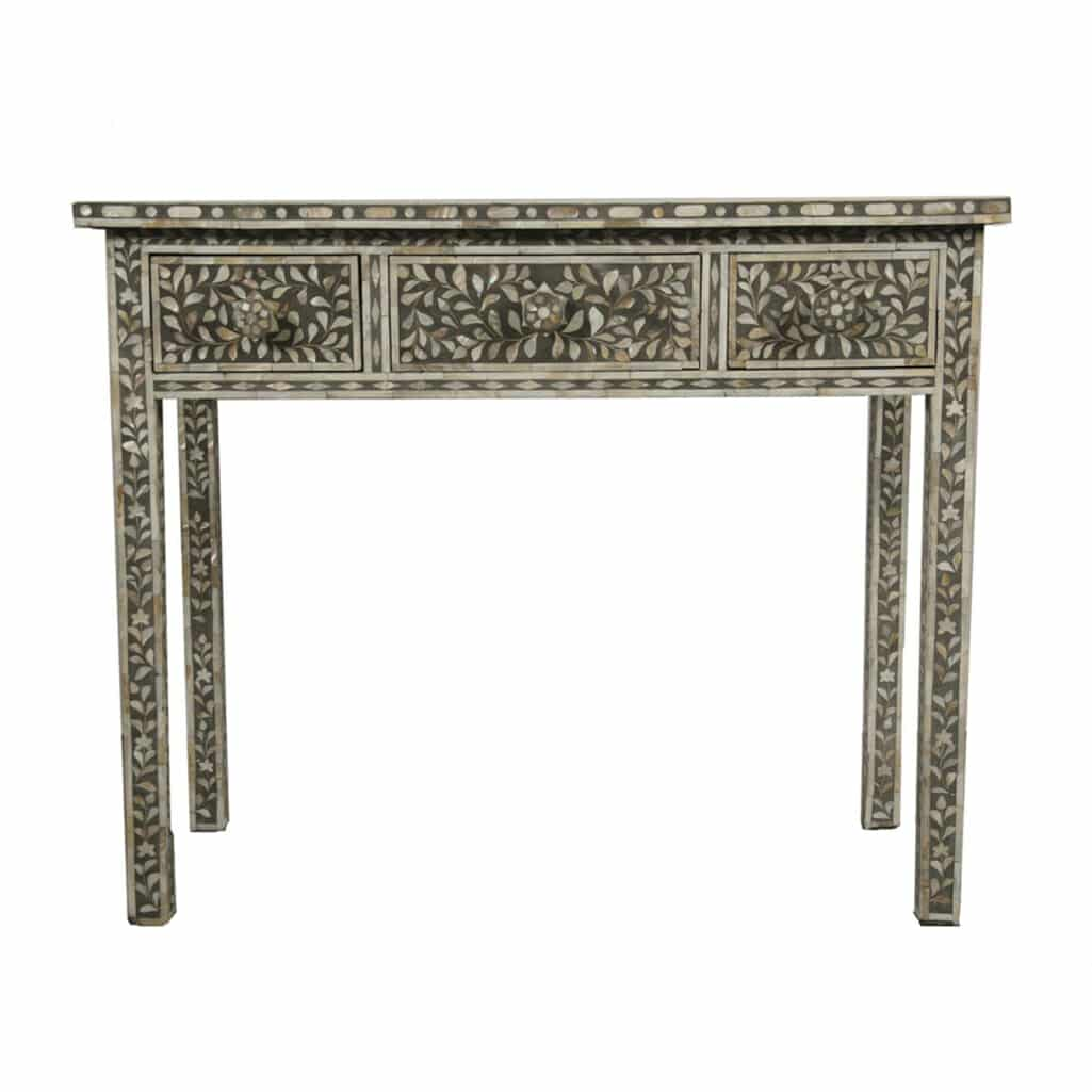 Merveilleux Grey Mother Of Pearl Dressing Table 1