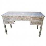 Grey Mother of Pearl Inlay Desk