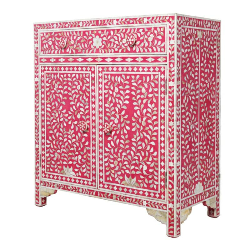 Unique Mother Of Pearl Cabinet: Pink Mother Of Pearl Cabinet