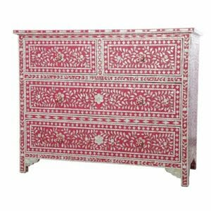 Raspberry-Mother-of-Pearl-Chest-of-Drawers-1