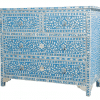Turquoise Mother of Pearl Chest of Drawers 1