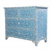 Turquoise Mother of Pearl Chest of Drawers 2