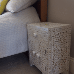 White Mother of Pearl Bedside Cupboard 3