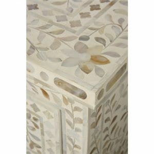 White Mother of Pearl Chest of Drawers 2