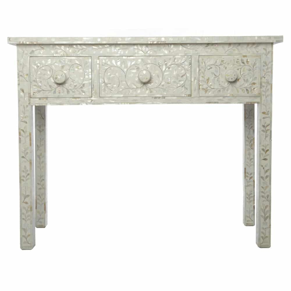 White Mother Of Pearl Dressing Table 2