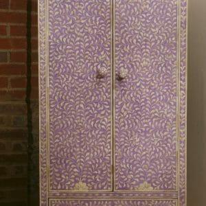 Lilac bone inlay wardrobe