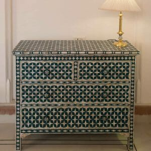 Indian Mother Of Pearl Inlay Chest Of Drawers For Sale | Iris Furnishing Ltd