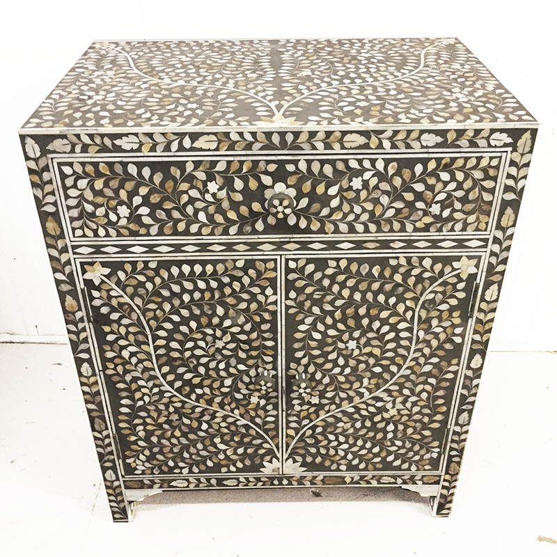 Unique Mother Of Pearl Cabinet: Grey Mother Of Pearl Drinks Cabinet