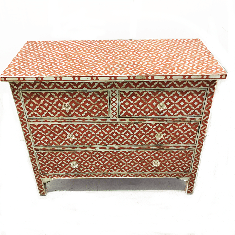 CLEAN Terracotta Semi Geo Mother Of Pearl Inlay ...