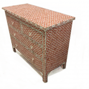 CLEANTerracotta semi-geo mother of pearl inlay chest 01