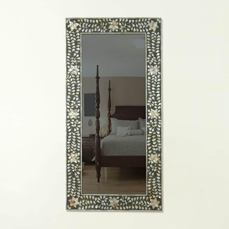 Mother Of Pearl Rectangle Mirror Iris Furnishing