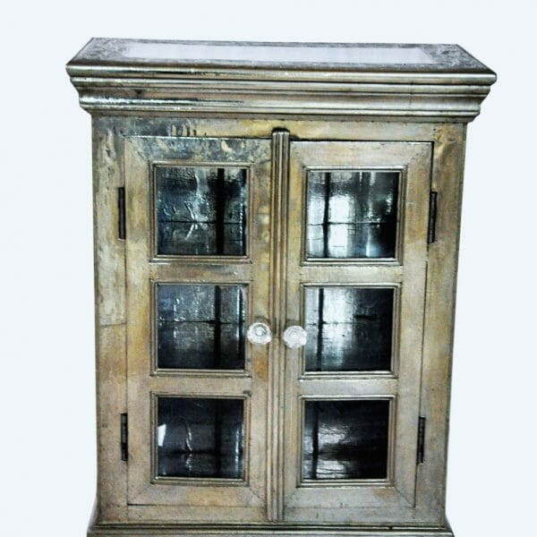 DONE White Metal glass cabinet (white background please)