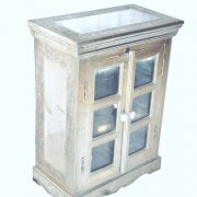 DONEWhite Metal Glass cabinet 01 (white background please)