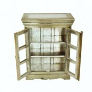 DONEWhite Metal Glass cabinet open (white background please)